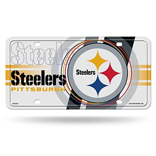 (Rico Industries NFL Pittsburgh Steelers Metal License Plate Tag )