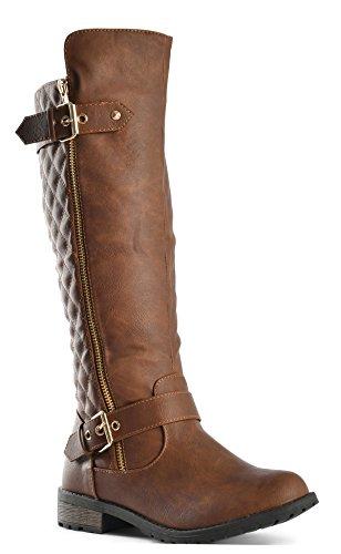 JJF Shoes Forever Mango-21 Women's Boots Tan Pu, 8.5 B(M) US
