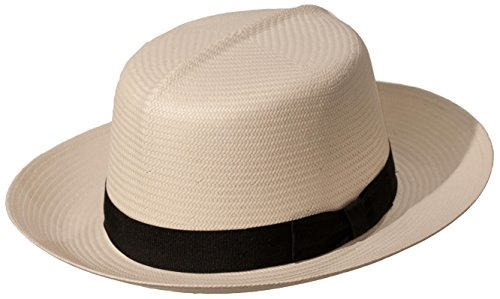 Levine Hat Co. Men s Casa Blanca Optimo Crown Panama Straw Dress Hat 4f4c37e6a212