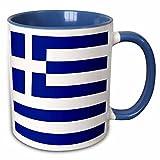 3dRose 4562%5F6 Greek Flag Two Tone Mug%