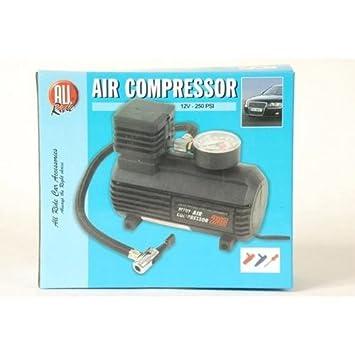 Compresor de aire eléctrico para coche, bicicleta o balón, se puede enchufar en toma de corriente o mechero 12V: Amazon.es: Coche y moto