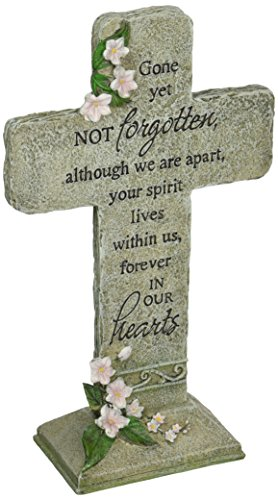 (Carson Home Accents Peaceful Reflections Garden Marker, 11.75-Inch High, Hearts Cross)