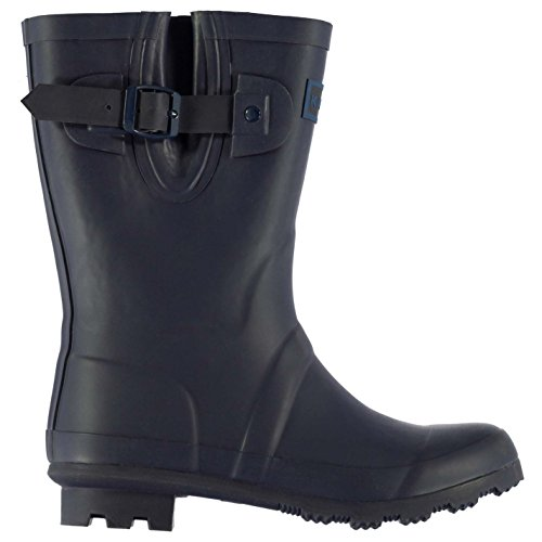 Kangol Kids Tall Wellies Childs Wellingtons Buckle Pattern Boots Shoes Navy/Blue UK C12 - Kangol Uk