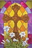 Stained Glass Cross Flag (Regular Size)
