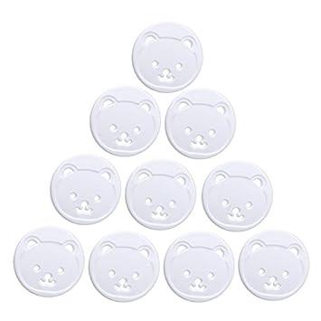 Amazon.com: Pack de 10 enchufes eléctricos de 2 orificios ...