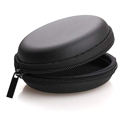 SMM Leather Zipper Headphone Case (Multi Colour Protective Case for Earphone, Headset, Adapter, Bluetooth Devices & Sd Cards)