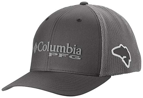 - Columbia Men's PFG Mesh Ball Cap, Grill/Bass, Large/X-Large
