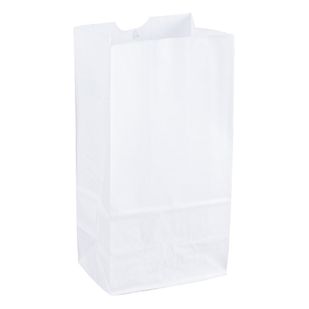 Amazon.com: Duro bolsa de comestibles/almuerzo, papel kraft ...