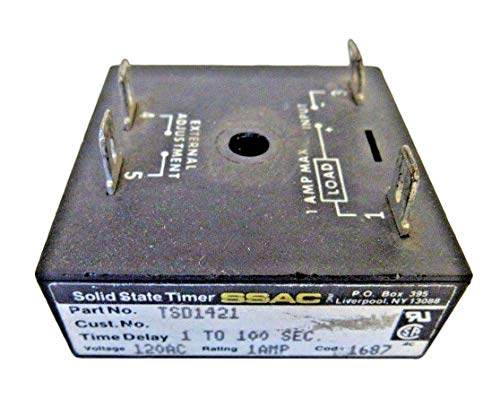 State Timer Ssac Solid (SSAC, TSD1421, Solid State Timer 1-100 Seconds 120vac 1a)