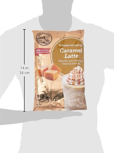 Big Train Blended Ice Coffee, Caramel Latte, 3 Pound 8 Ounce