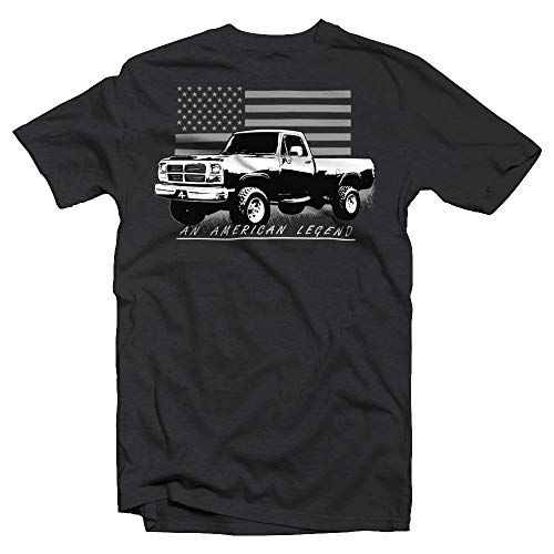 1st Gen Dodge Ram Diesel 12v Apparel T-Shirt with American Flag