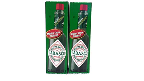 Mcilhenny Co Tabasco Milder Jalapeno Pepper Sauce 2 Oz Bottle (Pack of 2)