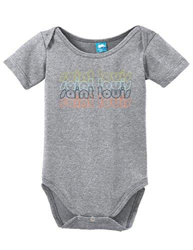 Sod Uniforms Saint Louis Missouri Retro Printed Infant Bodysuit Baby Romper Gray 6-12 Month