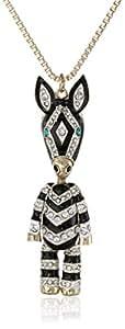 """Betsey Johnson """"3D Long Pendants"""" 3D Zebra Long Pendant Necklace"""