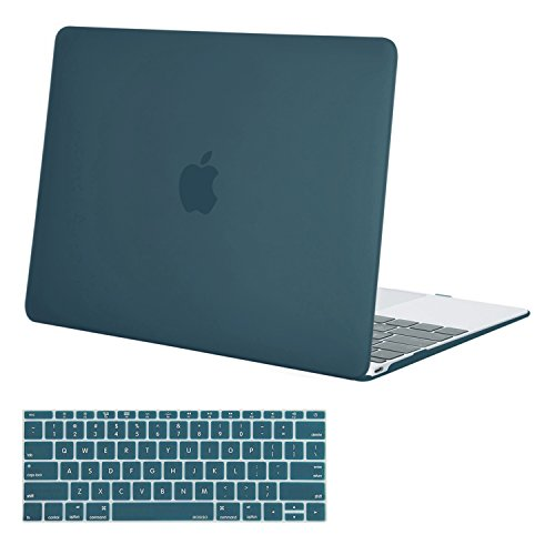 Hard Plastic Shell Case (Mosiso Plastic Hard Shell Case with Keyboard Cover for MacBook 12 Inch with Retina Display Model A1534 (Newest Version 2017/2016/2015), Deep Teal)