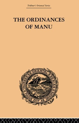The Ordinances of Manu by Arthur Coke Burnell (2013-10-16)