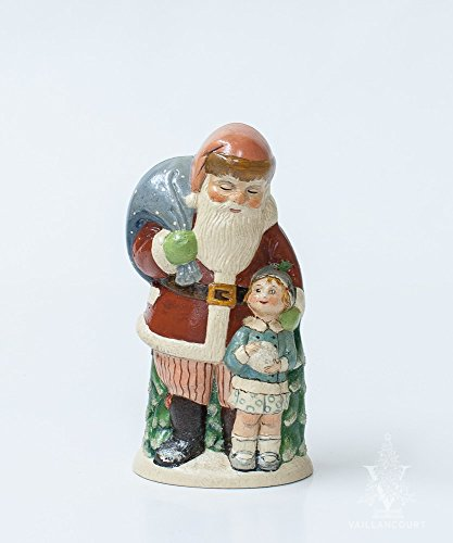 Santa Snowball (Vaillancourt Folk Art Santa with Girl Holding Snowball)