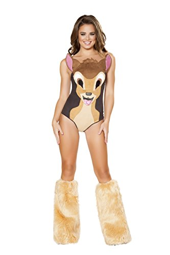 Deer Costumes Sexy (Sexy Women's 1pc Bambi Sweet Deer Costume (L))