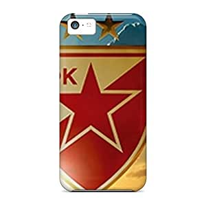 Flexible Tpu Back Case Cover For Iphone 5c - Fc Red Star
