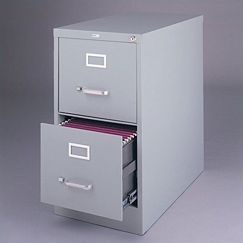 2 Drawer Commercial Letter Size File Cabinet Finish: Light Gray (Cabinets File Light Gray)