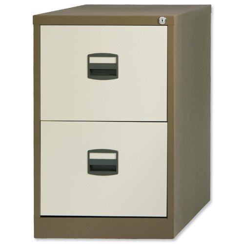Trexus By Bisley 2 Drawer Foolscap Filing Cabinet - Black