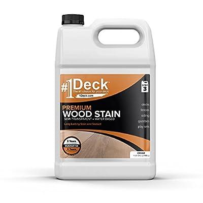 #1 Deck Premium Wood Stain for Decks, Fences, & Siding - 1 Gallon