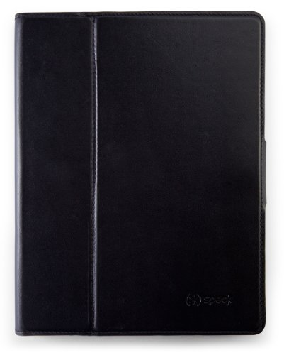 Deluxe Vertical Leather Case (Speck Products WanderFolio Luxe Leather Folio for iPad 3/4 - Black/Gunmetal Leather (SPK-A1289))