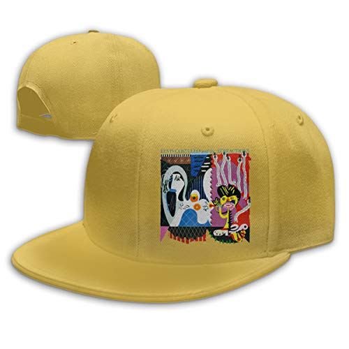 Yestrong Unisex Man & Women's 3D Print Elvis Costello and The Attractions Imperial Bedroom Graphic Adjustable Baseball Cap Yellow (The Very Best Of Elvis Costello And The Attractions)