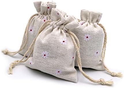 Generic Lot de 20/Chic Coton Toile Cordon Sacs Pochettes Cadeau Mariage Favor Sacs Bijoux 8,9/x 11,9/cm