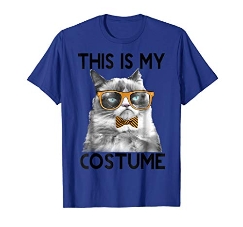 Mens Grumpy Cat Halloween This Is My Costume Bowtie T-Shirt 2XL Royal Blue for $<!--$19.99-->