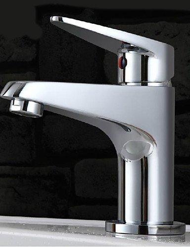 Ling@ Basin mixer Single Hole Chrome Mixer Basin Faucet Sink Tap Deck Mount Sink Faucet Bath Faucet Vanity Faucet ()
