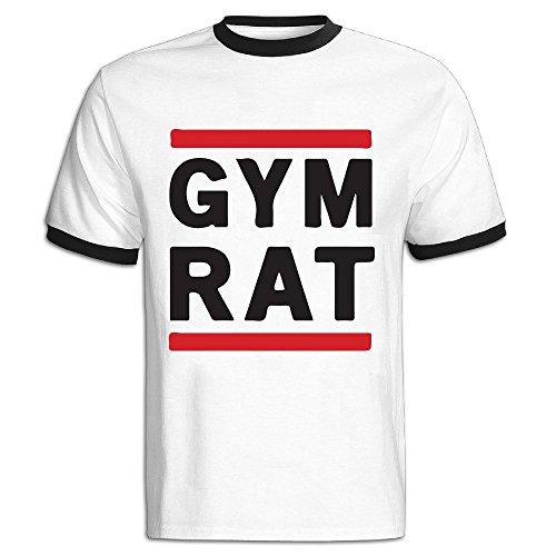 Price comparison product image NEVA Mens Gym Rat Short Sleeve Ringer T Shirts