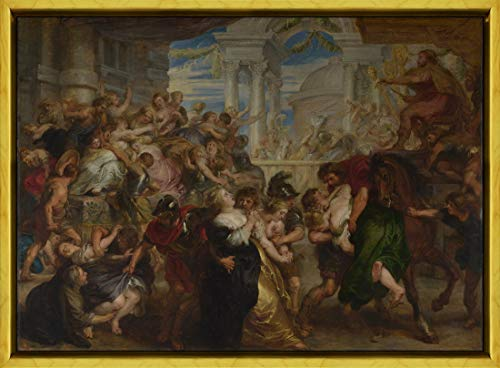 Berkin Arts Framed Peter Paul Rubens Giclee Canvas Print Paintings Poster Reproduction(The Rape of The Sabine Women) #XLK (The Rape Of The Sabine Women Painting)
