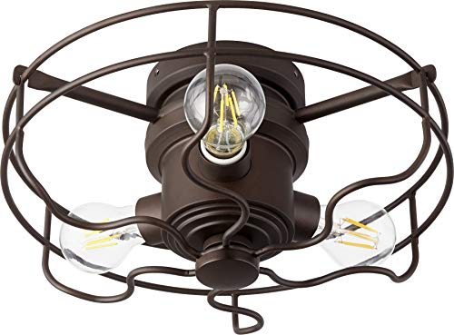 (Quorum 1905-86 Windmill 3-Light Kit LED, 18 Total Watts, Oiled Bronze)