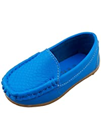 DADAWEN Children's Girls' Boys' Slip-on Soft Loafers Oxford Shoes
