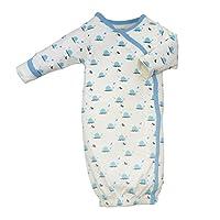 Babysoy Organic Pattern Kimono Bundlers (00-03 months, Whale)