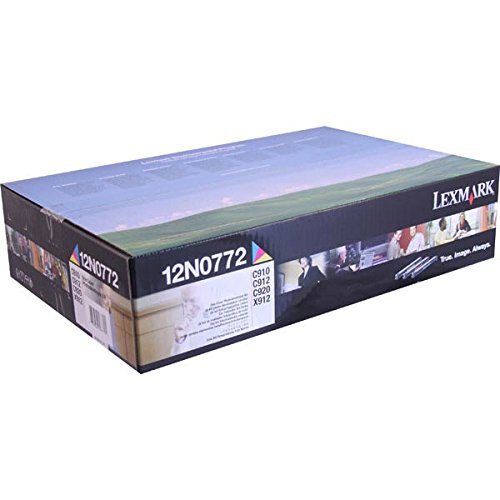 Lexmark C910/C912/C920/X912 Color Photodeveloper Set 28000 Yield Per Color - Photodeveloper Set