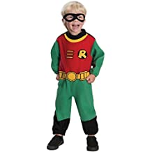 Rubies Baby Costume, Teen Titans Robin Romper, 6-12 Months
