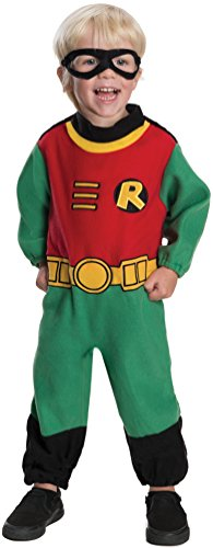 Ever Costumes Greatest The (Rubie's Costume Co Baby Boy's Teen Titans Robin Romper Costume, Multi, 12-24)