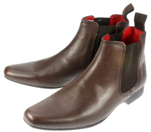 Red Tape Garforth Bottines en cuir Bout pointu Enfant - Noir - marron, 35.5 (3 UK)