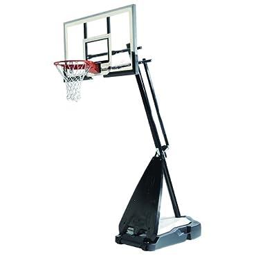 Spalding 71454A NBA Hybrid Portable Basketball System 54 Glass Backboard