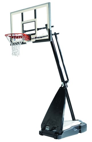 "Spalding NBA Hybrid Portable Basketball System - 60"" Acrylic Backboard"