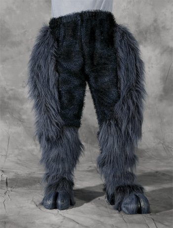 [Zagone Studios Men's Grey Beast Legs, Gray, Adult One Size] (Satyr Halloween Costumes)