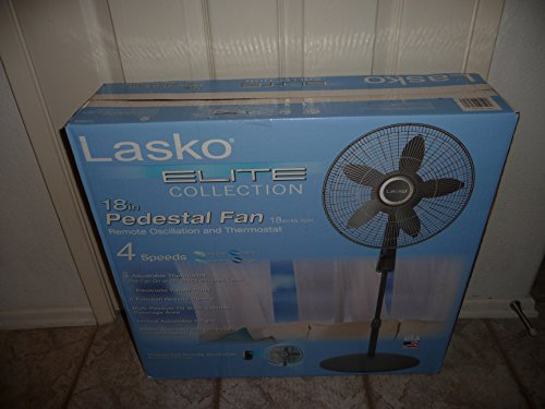 lasko elite collection pedestal fan remote oscillation and lasko elite collection pedestal fan remote oscillation and thermostat amazon com