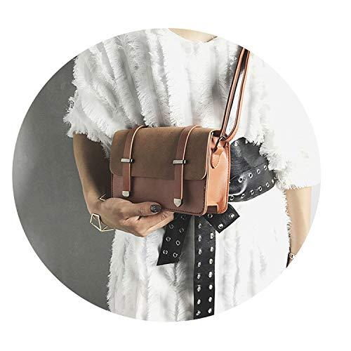 uare Flap Bag Fashion Women Messenger Crossbody Bags Design Sling,D Brown,Small Size ()