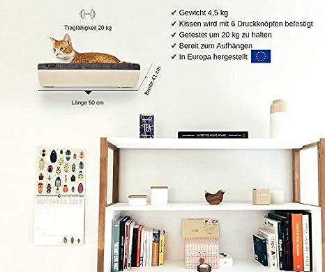 COSY AND DOZY Estante para Gatos, Percha para Gatos, Cama para Montar en la Pared, Camuflaje Rosa, Cama para Gato, Muebles para Gatos de diseño, ...