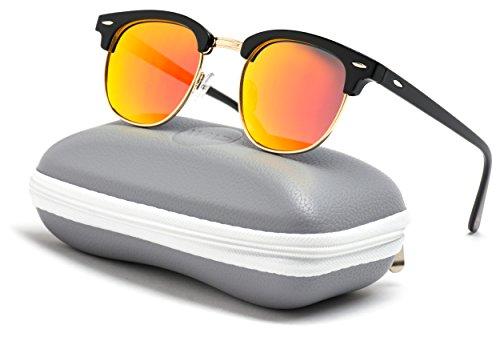 7ab6e96c42 WearMe Pro - Classic Half Frame Polarized Semi-Rimless Rimmed Sunglasses - Buy  Online in Oman.
