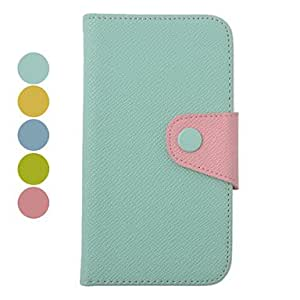 Color Matching Leather Full Body Case for Samsung I9500(Assorted Colors) , Light Blue