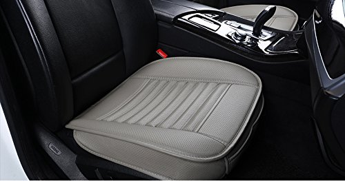 365Cor - Automobiles Seat Covers Four Seasons Car Seat Cushion Seat Protector PU Leather Car-styling Car Interior Accessories Anti Slip [ Front Row Gray ] ()