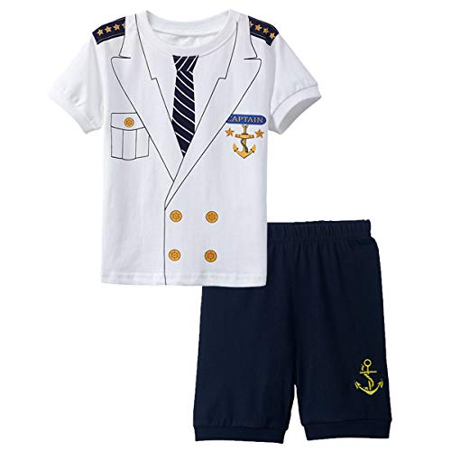 Mombebe Baby Boys Halloween Custome Captain Clothing Set